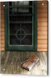 Package On Front Porch Acrylic Print by Jill Battaglia