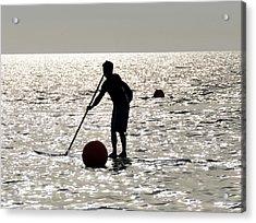 Paddle Boarding Acrylic Print by David Lee Thompson
