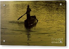 Acrylic Print featuring the photograph Paddle Boy by Lydia Holly