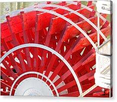 Paddle Wheel Acrylic Print by Barry Jones