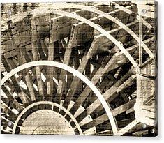 Paddle Wheeler-vintage Acrylic Print by Barry Jones