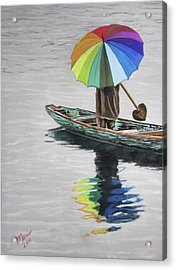 Paddling Downstream Acrylic Print