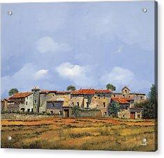 Paesaggio Aperto Acrylic Print by Guido Borelli