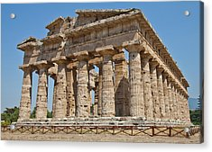 Paestum Temple Acrylic Print by Paolo Modena