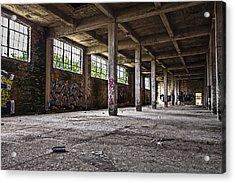 Paint And Concrete Acrylic Print by CJ Schmit