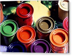 Paint Pots Acrylic Print by Victor De Schwanberg