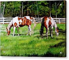 Paint The Fields Acrylic Print by Crystal  Harris-Donnelly