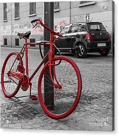 Paint The Town Red Acrylic Print by Sonny Marcyan