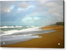 Acrylic Print featuring the photograph Painted Beach by Cindy Haggerty