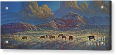 Painted Desert Painted Horses Acrylic Print
