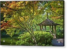 Painted Gardens Acrylic Print by Joan Carroll