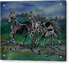 Painted Horses Acrylic Print