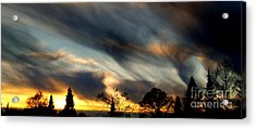 Painted Sky Over Denmark Acrylic Print by Michael Canning