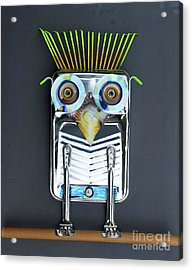 Acrylic Print featuring the sculpture Painter Owl by Bill Thomson