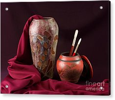 Painterly Pots Acrylic Print