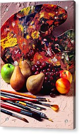 Painters Palette  Acrylic Print by Garry Gay
