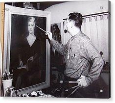 Painting A Portrait Acrylic Print by Bill Joseph  Markowski