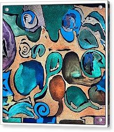 Circles Of Colors.... Acrylic Print