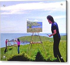 Painting Manana  Acrylic Print by Richard Stevens