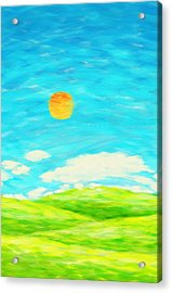 Painting Of Nature In Spring And Summer Acrylic Print by Setsiri Silapasuwanchai
