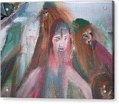 Painting Vikings Acrylic Print by Judith Desrosiers