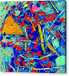 Painting With Debris Acrylic Print by Randall Weidner