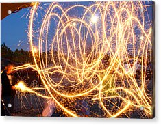 Painting With Sparklers Acrylic Print by Gordon Dean II