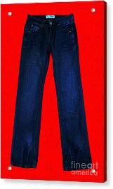 Pair Of Jeans 2 - Painterly Acrylic Print by Wingsdomain Art and Photography
