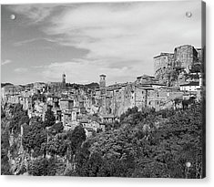 Palace And City Acrylic Print by Marco Di Fabio
