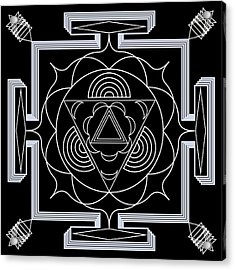 Acrylic Print featuring the digital art Palace Hypnosis by Mario Carini