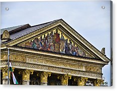 Palace Of Art - Heros Square - Budapest Acrylic Print by Jon Berghoff