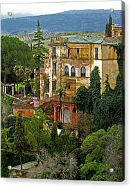 Palace Of The Arabian King - Ronda Acrylic Print by Juergen Weiss