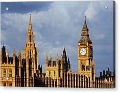 Palace Of Westminster In Winter Sunlight Acrylic Print by Christopher Hope-Fitch