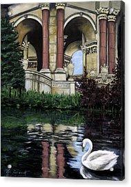 Palace Swan Acrylic Print by Lisa Reinhardt