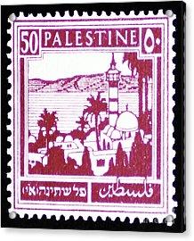 Palestine Vintage Postage Stamp Acrylic Print