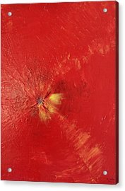 Palette Style Zoom  Red Poppe  Acrylic Print by Pretchill Smith
