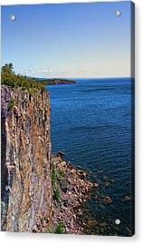Palisade Head Cliffs Acrylic Print by Bill Tiepelman