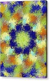 Pallet Of Colors Acrylic Print by Deborah Benoit