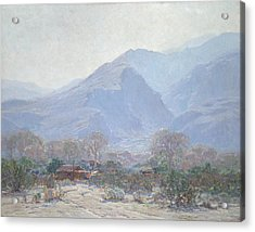 Palm Springs Landscape With Shack Acrylic Print by John Frost