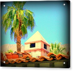 Palm Springs Pyramid Colonial Acrylic Print by Randall Weidner