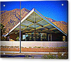 Palm Springs Visitor Center Tramway Gas Station Acrylic Print by Randall Weidner