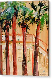 Palm Trees Acrylic Print by Suzanne Willis