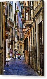 Palma Mallorca Street Scene Acrylic Print by David Smith