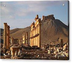 Palmyra Acrylic Print by Issam Hajjar