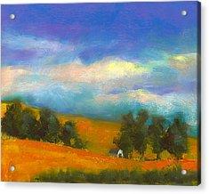 Palouse Wheat Fields Acrylic Print by David Patterson
