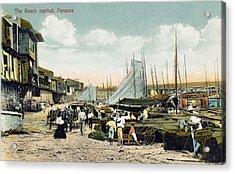 Panama City: Beach Market Acrylic Print by Granger