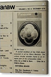 Pananaw 1979 Acrylic Print by Glenn Bautista