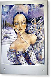 Pandora Acrylic Print by Jackie Rock