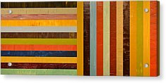 Panel Abstract - Digital Compilation Acrylic Print by Michelle Calkins