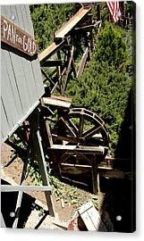 Panning For Gold In Virginia City Nevada Acrylic Print by LeeAnn McLaneGoetz McLaneGoetzStudioLLCcom